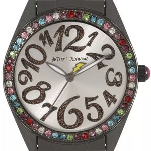 Betsey Johnson Gunmetal Colored Stainless Watch